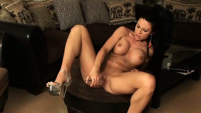 Big Tits Babe Playing