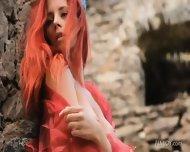 Amazing Redhead In Magical Scenery