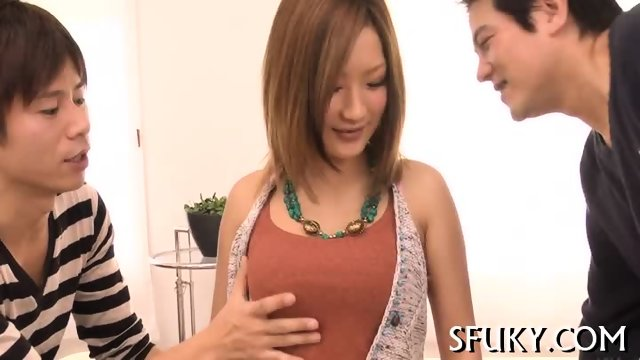 Pretty Asian slut pussy tease