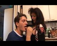 Mature Woman Fucks Young Boy - scene 3