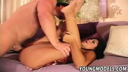 Cassandra Cruz horny latina ponded on the couch