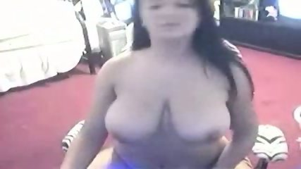 Busty amateur shows her boobs to the webcam - scene 10