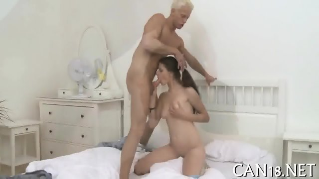 Wet fellatio with doggystyle sex