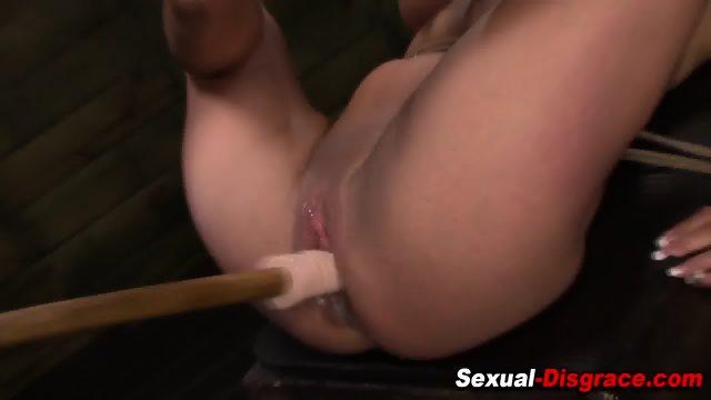 Bdsm slut gets choked