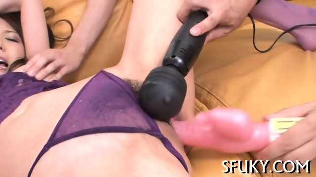 Pussy punishment for this hot Asian