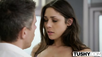 TUSHY Beautiful Natural Brunette Anna Morna Tries Anal - scene 5