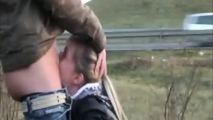 Blonde Gives A Public Blowjob - scene 4