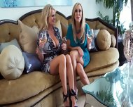 Two Blonde Pornstars Compare Their Bodies - scene 1