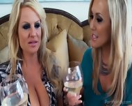 Two Blonde Pornstars Compare Their Bodies - scene 2