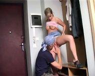 Teen Slut Fucked In Corridor - scene 7