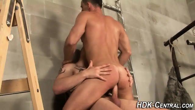 Barebacking cock cascades