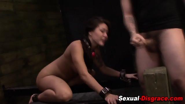 Asian slave rough fucked