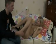 Shy Blonde Gives Ass - scene 4