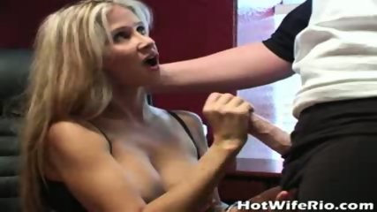 Hot busty wife jerks him - scene 9