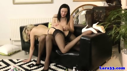 Classy British Lesbians Eating Pussy - scene 11