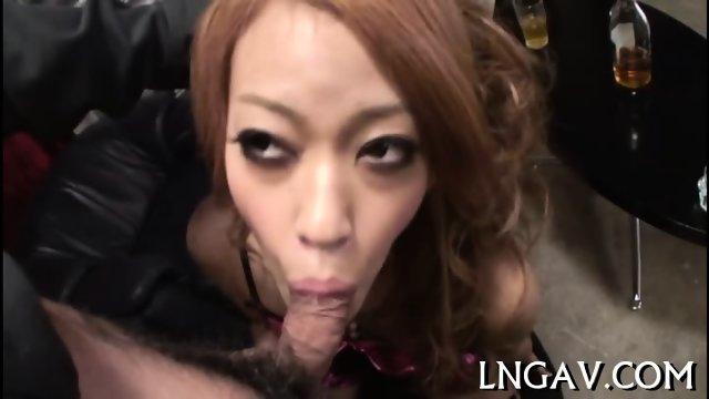 Horny slut in lingerie pussy tease