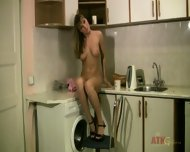 Evanika Presents Her Awesome Body On Kitchen Top