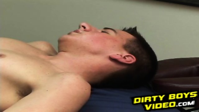 Two hot amateur roommates having hard gay sex in a bedroom