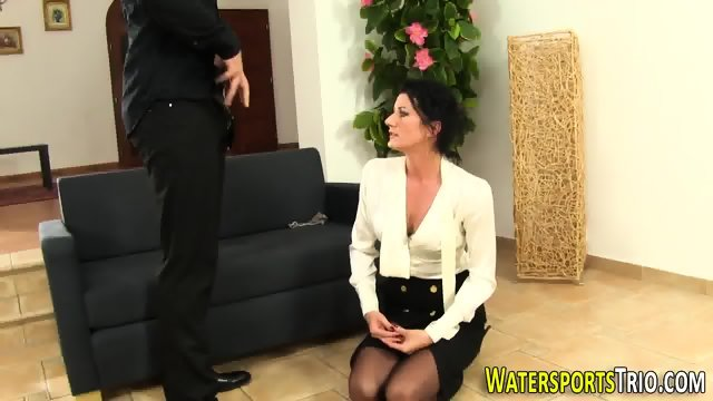 Glam bitch gets peed on - scene 8