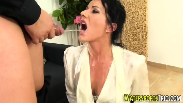 Glam bitch gets peed on - scene 9