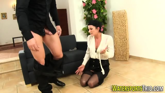 Glam bitch gets peed on - scene 11