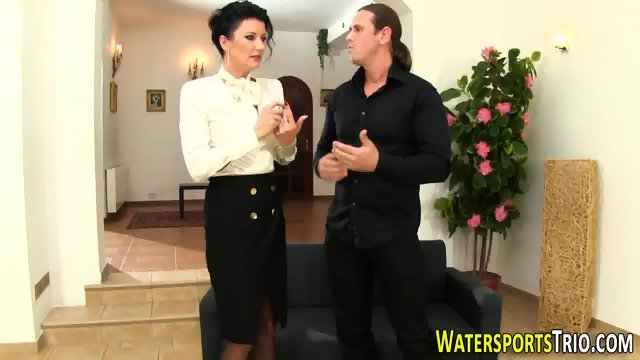 Glam bitch gets peed on - scene 1