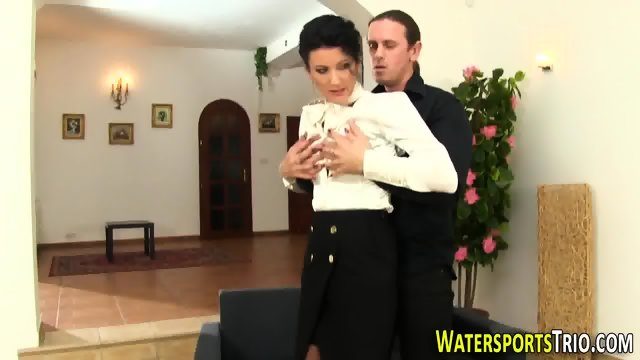 Glam bitch gets peed on - scene 3