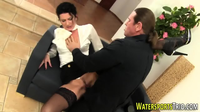 Glam bitch gets peed on - scene 6
