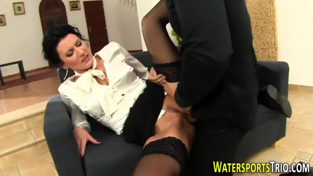 Glam bitch gets peed on - scene 7