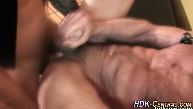 Mature bear blows load - scene 10