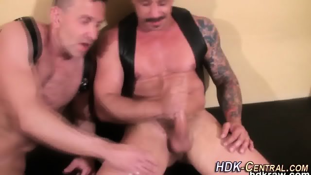 Mature bear blows load - scene 12