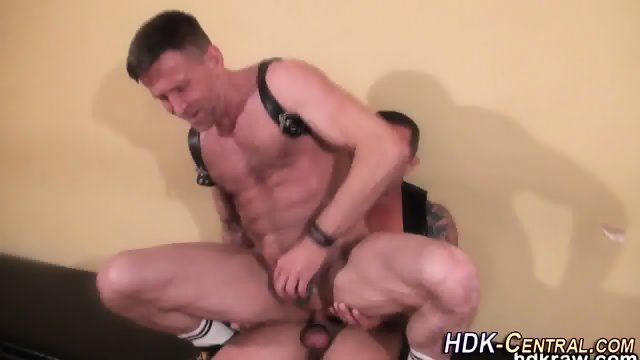 Mature bear blows load - scene 4