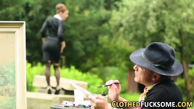 Glam whore rides cock - scene 2