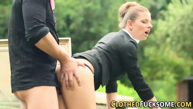 Glam whore rides cock - scene 5
