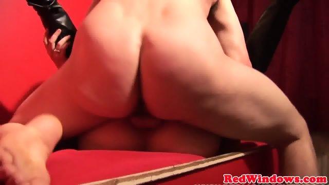 European prostitute cocksucking and jerking - scene 9