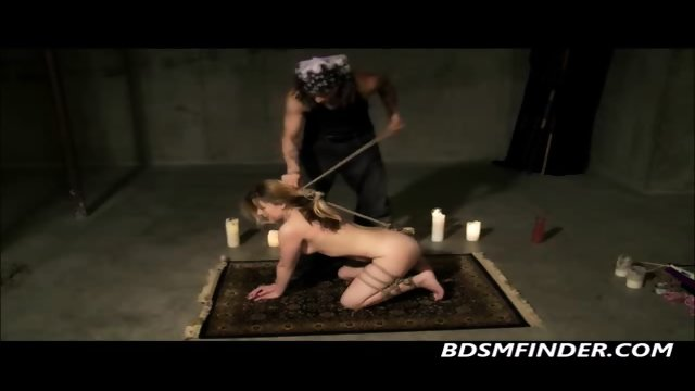 Bound And Anal Hooked Blowjob - scene 2
