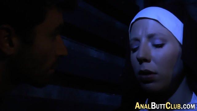 Booty nun gets humped - scene 4