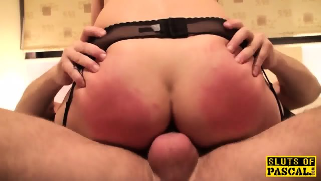 British sub slut dominated while cockriding - scene 7