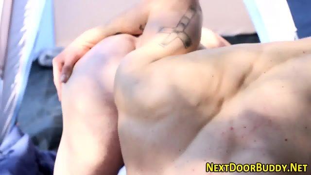 Buff camping guy swallow - scene 8
