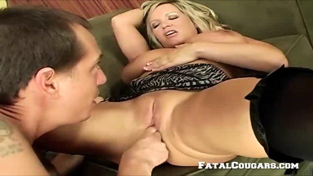 Horny Mature Blonde Enjoys A Big Cock - scene 3