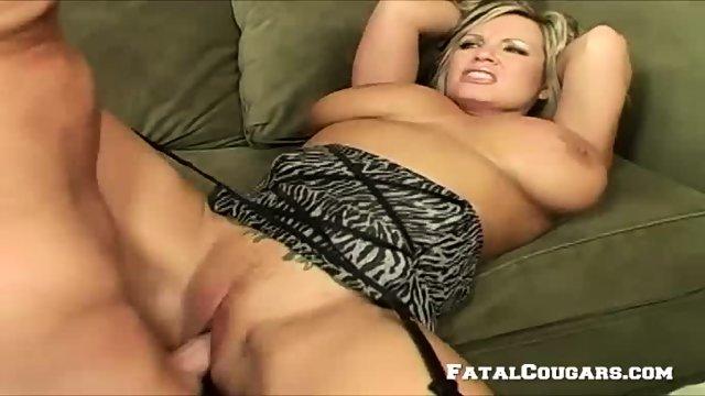 Horny Mature Blonde Enjoys A Big Cock - scene 4