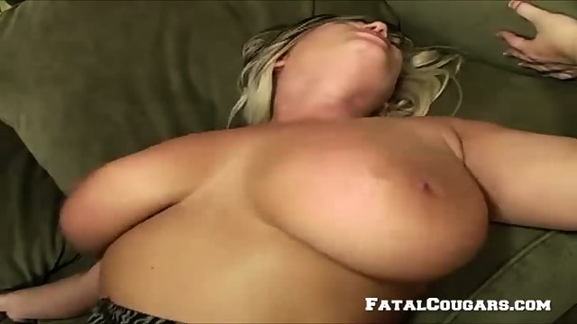 Horny Mature Blonde Enjoys A Big Cock - scene 5