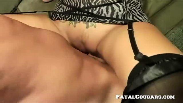 Horny Mature Blonde Enjoys A Big Cock - scene 6