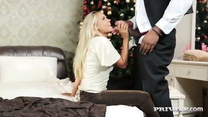 Blonde Beauty Barra Brass Gets A Big Black Cock - scene 5