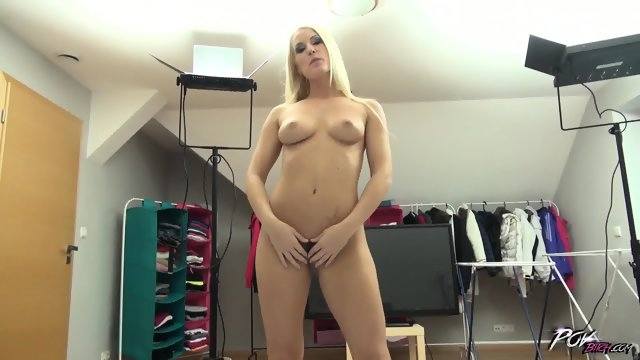 Horny blonde shows off her creampie after fucking - scene 4
