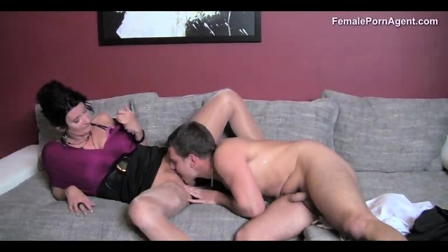 Sexy Female Agent Has Hots For The Stud - scene 7