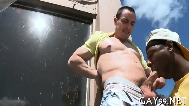 HQ interracial gay action - scene 4