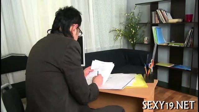 Teacher pounds babe senseless - scene 1