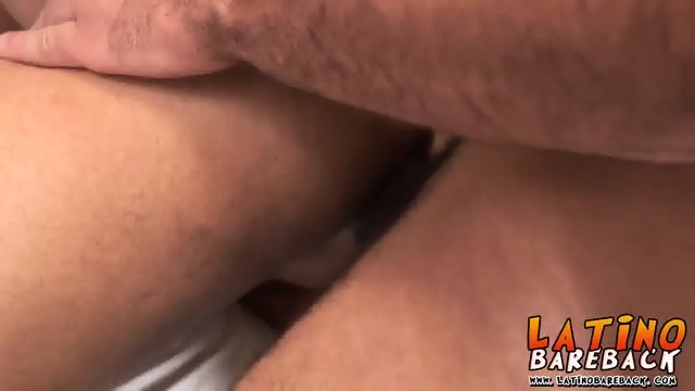 Three hot latinos enjoying cock sucking and fucking bareback - scene 11