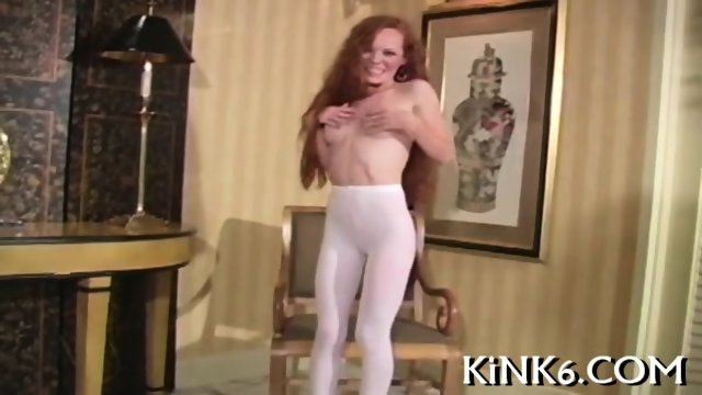 Hot angel curves in fancy tights - scene 12